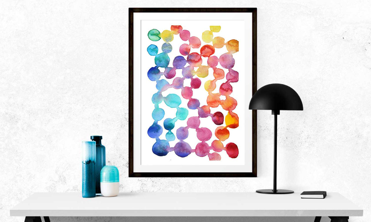 Indigoandfelix Watercolor Wall Art Prints Australia Painting Nursery